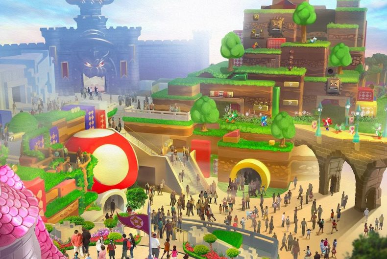 The first images of the Super Nintendo World Theme Park