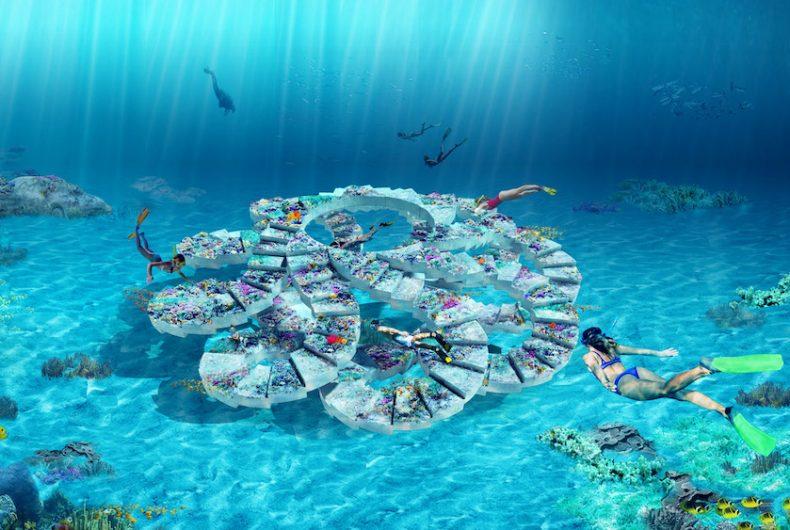 The ReefLine, the underwater park designed by OMA studio