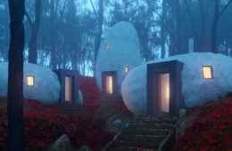 The Dolmen Shelter, the hotel carved in stone