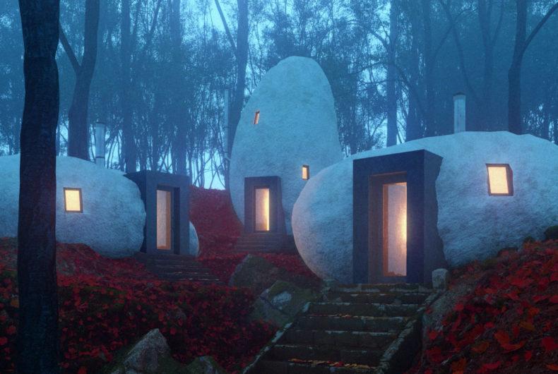 Il Dolmen Shelter, l'hotel scavato nella pietra