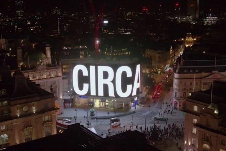 CIRCA proietta opere d'arte nel megaschermo di Piccadilly