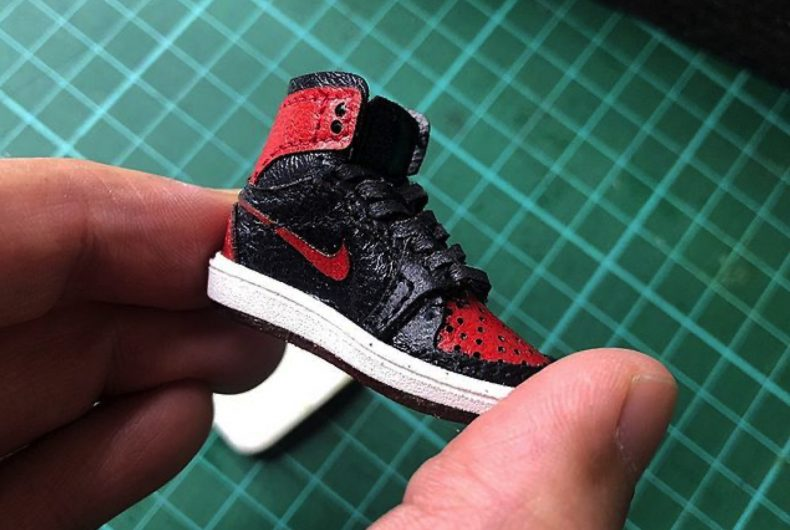 Le sneaker in miniatura di Chris Pin