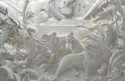 Jeff Nishinaka Monochromatic Paper Sculpture