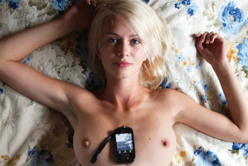 Tits and Phones, Richard Kern photo project for Vice Magazine