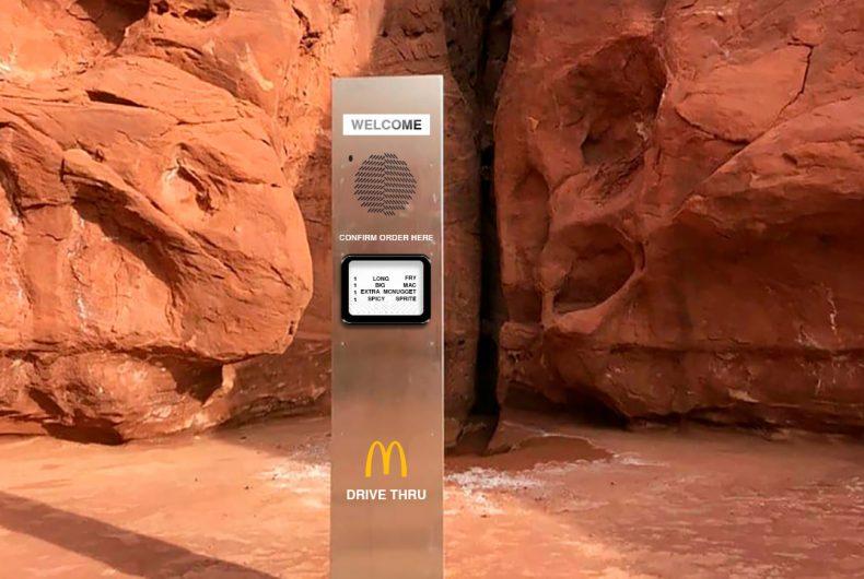 McDonald's turns the monolith into a Drive-Thru