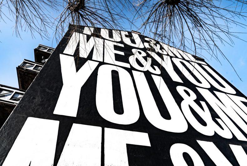 """You&Me, Me&You"", l'ultimo artwork di Anthony Burrill"