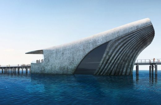 The whale-shaped observatory, the project by Baca Architects
