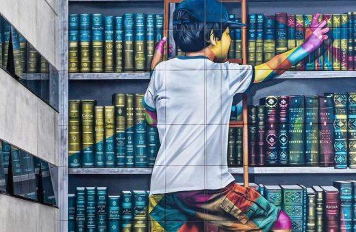 L'importanza della lettura, l'artwork di Eduardo Kobra
