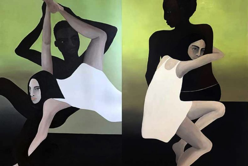 The reflection on the individual in Rebecca Brodskis's paintings