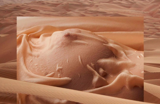 Humans and Landscapes, Ekayyne's project blends nature and the human body.