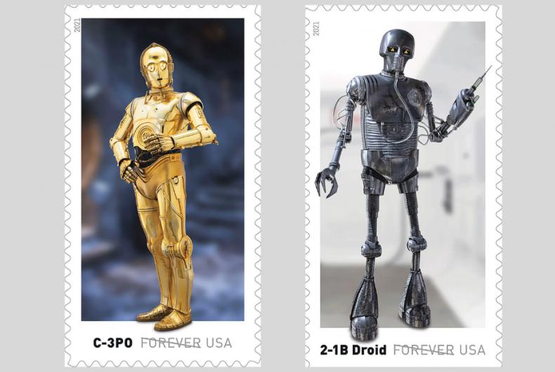 USPS ha lanciato i francobolli con i personaggi di Star Wars