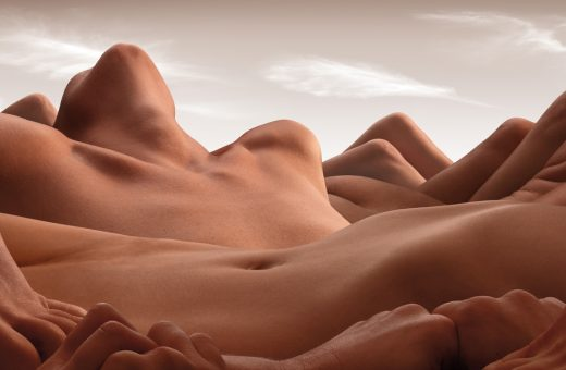 Bodyscapes, landscapes formed from human bodies by Carl Warner