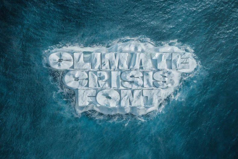 The Climate Crisis Font, il font sul cambiamento climatico