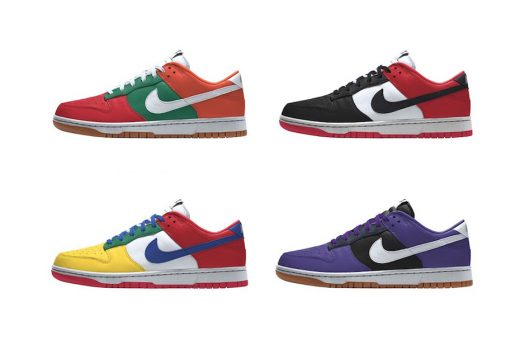 The Dunk Low can be customized via Nike By You