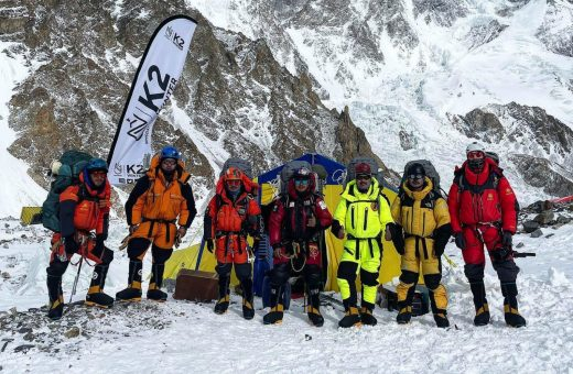 Save The Duck on top of K2 with Mingma Tenzi