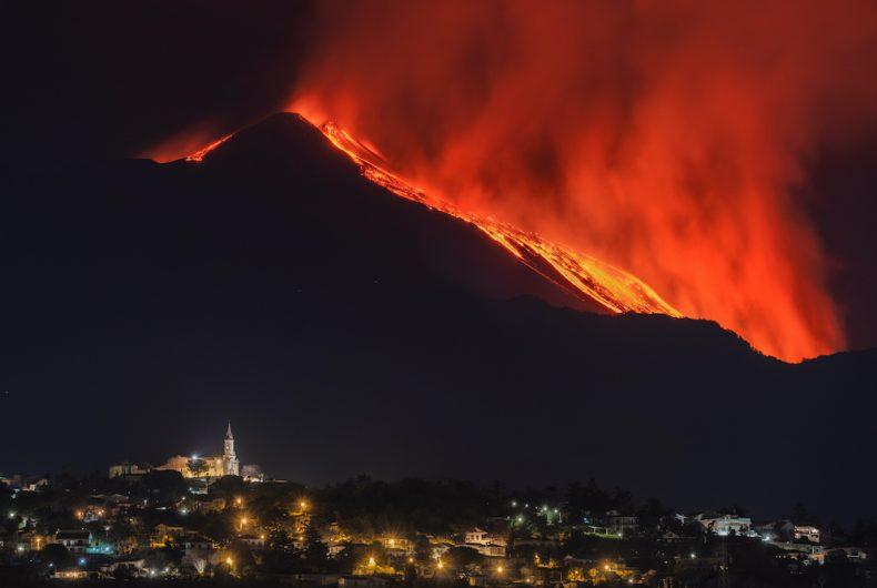 L'Etna in eruzione fotografata da Emilio Messina
