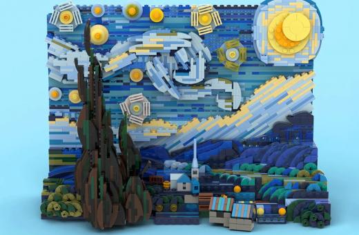 """""""La notte stellata"""" il nuovo set di LEGO dedicato a Van Gogh"""