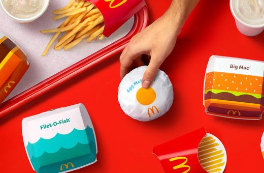 McDonald's ha ridisegnato il packaging dei suoi prodotti