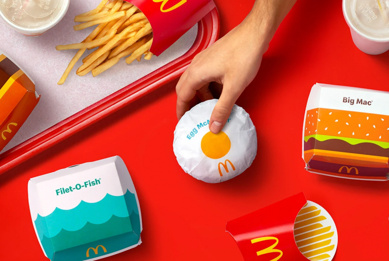 McDonald's has redesigned the packaging of its products