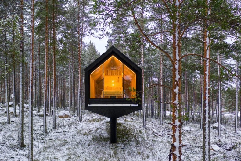 Niliaitta, la cabina nascosta nei boschi finlandesi