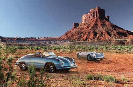 """Porsches in nature"", la mostra di Jared Zaugg nel deserto"