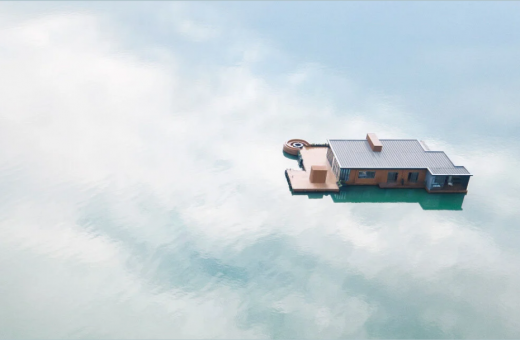 The floating hotel in the middle of the sea by Balance Design