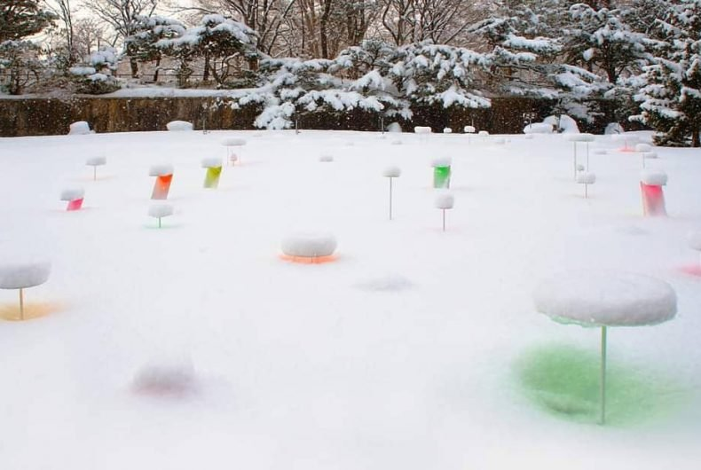 """""""Snow Pallet"""", the latest installation by Toshihiko Shibuya"""