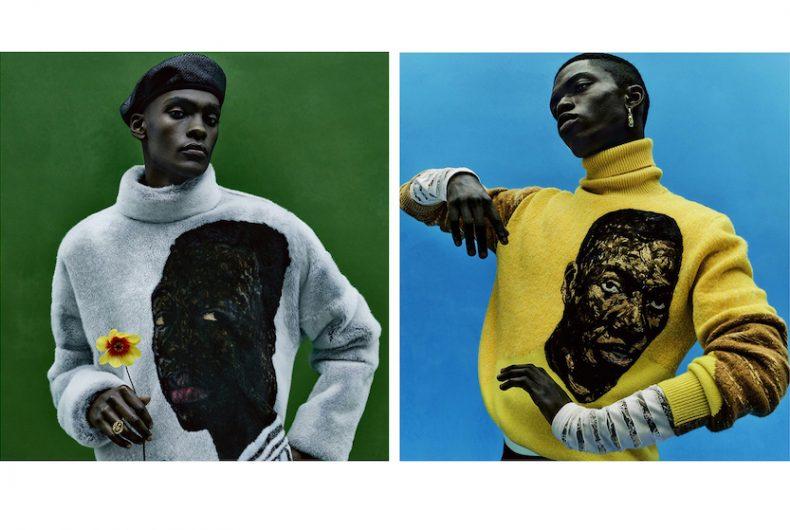 Le opere di Amoako Boafo nella campagna Summer '21 di Dior