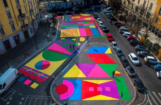 Camilla Falsini's multicoloured murals for Milan