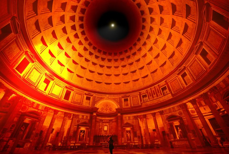 """""""InsideOut"""", the installation by Cosimo Scotucci at the Pantheon"""