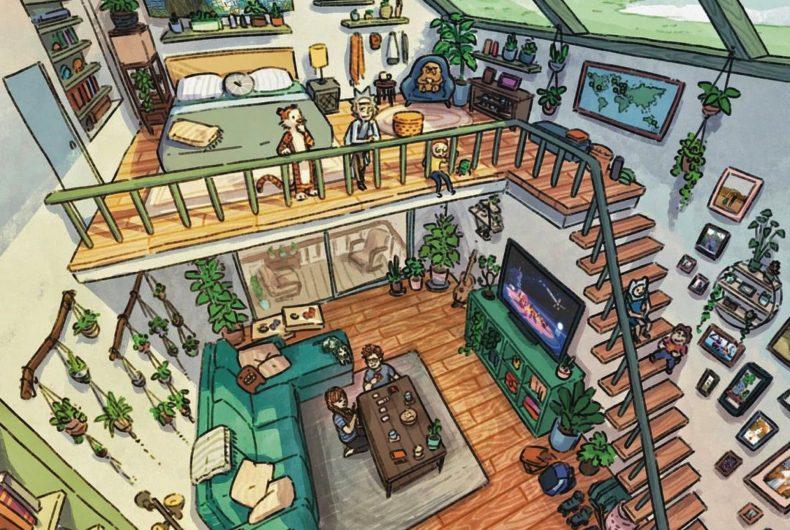JR Eisma trasforma le vostre case in illustrazioni