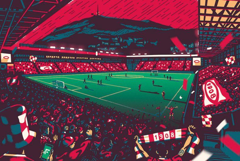 """""""Home of football"""",  gli stadi illustrati dello studio Gundersons"""
