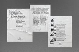 Spazio alle parole nella nuova campagna di Valentino Collezione Milano