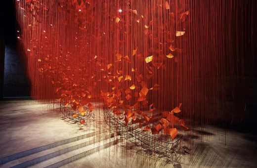 """I hope …"", the latest installation by Chiharu Shiota"