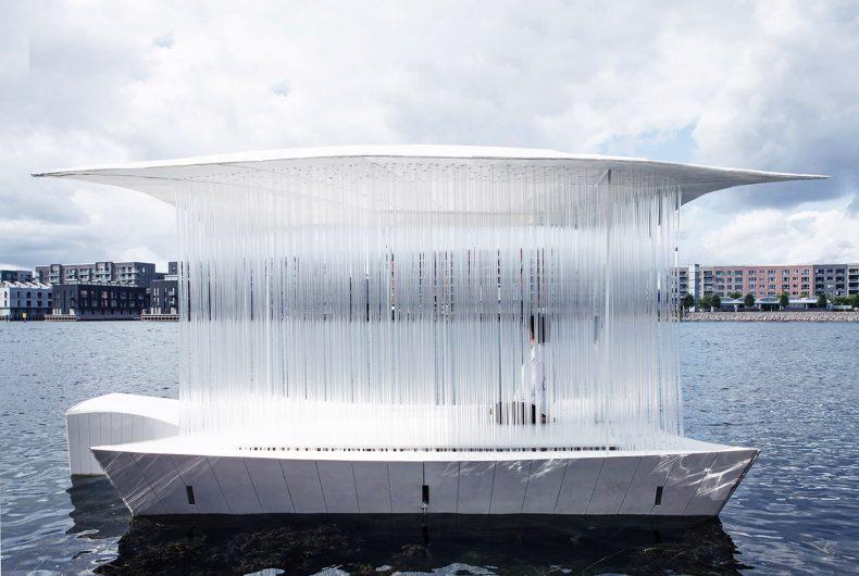 Teahouse Ø, un padiglione galleggiante a Copenaghen