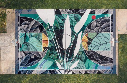 La street art di Fabio Petani unisce arte, chimica e natura