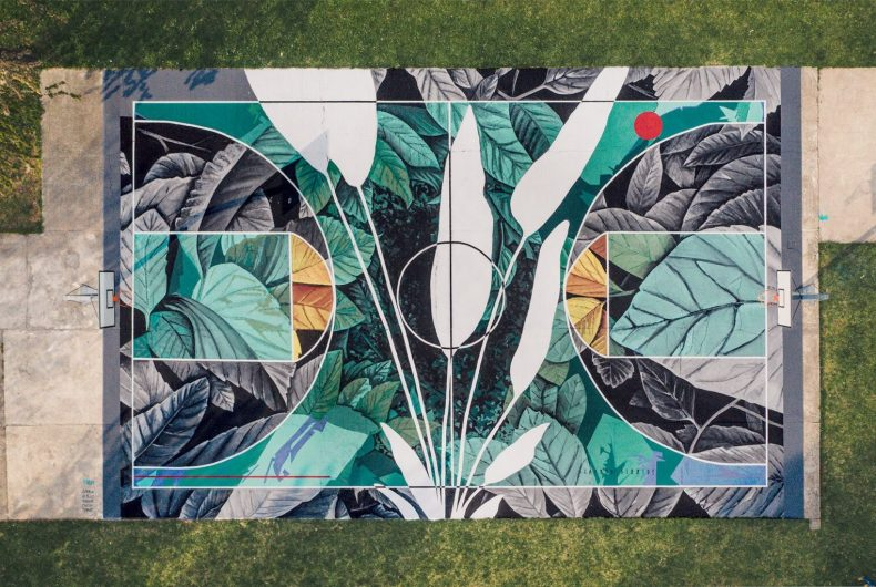 The street art of Fabio Petani combines chemistry and nature