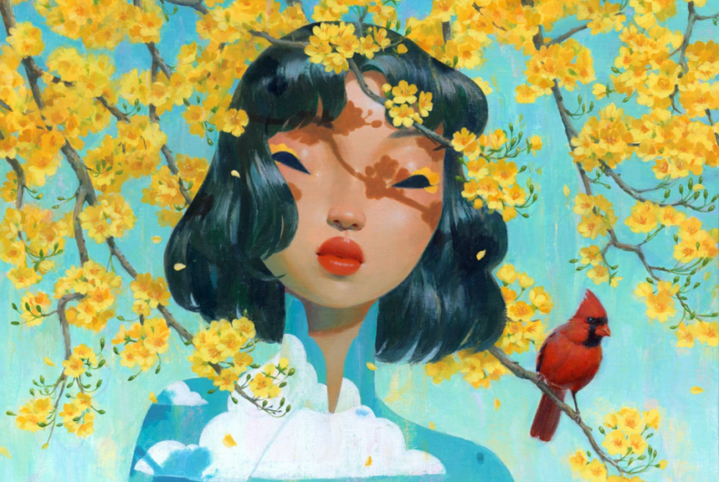 Spring in the illustrations and paintings of Bao Pham