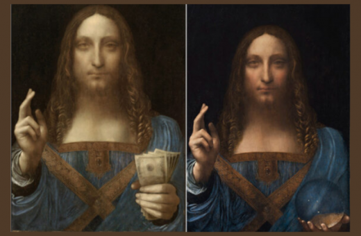 "Ben Lewis has created an NFT version of the ""Salvator Mundi"""