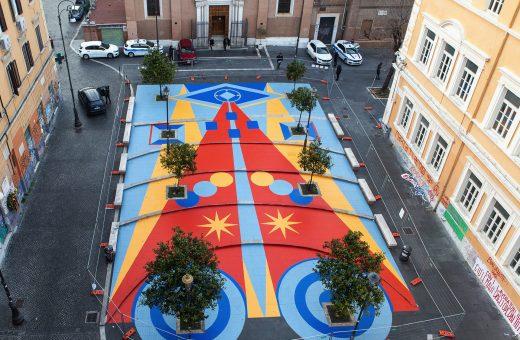"""""""Fantasia in piazza"""", l'opera di Leonardo Crudi a San Lorenzo"""