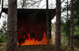 """""""Fire House"""", the house in the heart of the Swedish forest"""
