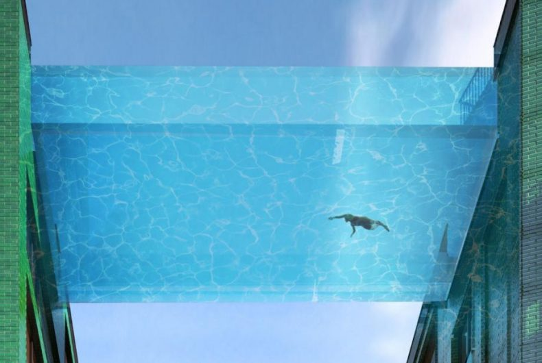 Sky Pool, the first swimming pool suspended in a vacuum arrives in London