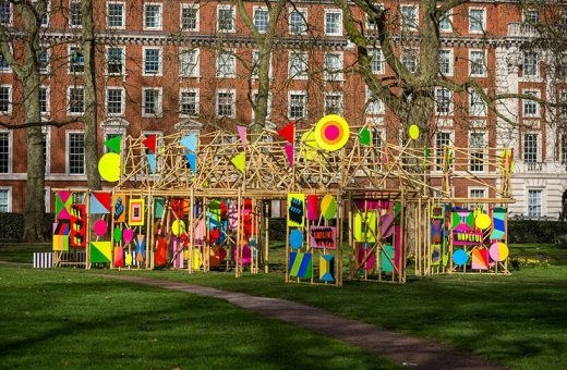 """See through"", l'installazione di Morag Myerscough  a Londra"