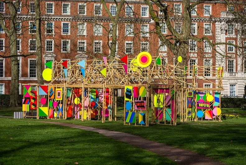 """""""See through"""", Morag Myerscough's installation in London"""