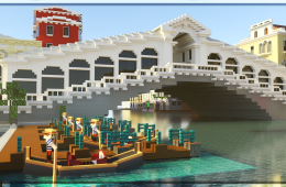 The map of the city of Venice arrives on Minecraft
