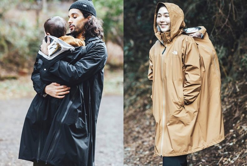 The maternity raincoat of The North Face Japan