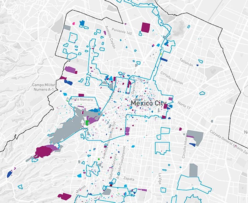 Cartina Geografica Politica Del Messico.Il Patrimonio Architettonico Di Citta Del Messico In Una Mappa Collater Al