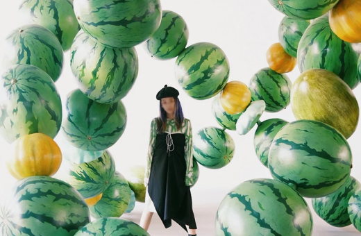 """Mix,"" Cyril Lancelin's latest watermelon installation"