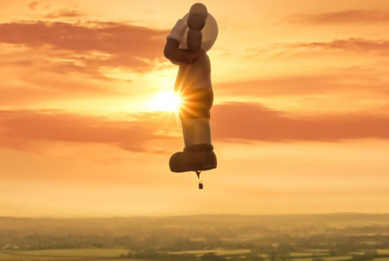 KAWS designed a hot air balloon that will travel around the world