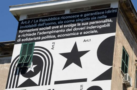 La Costituzione più bella del mondo diventa un murale